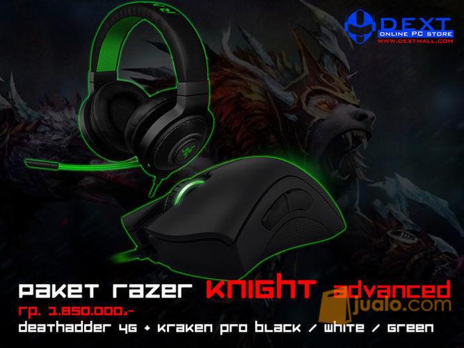 Paket Razer Knight Advanced (Mouse Deathadder 2013 + Headset Kraken Pro White) (7886975) di Kota Jakarta Barat