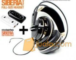 Steelseries Siberia Full-size Headset V2 Black Gold + SoundCard (7887167) di Kota Jakarta Barat