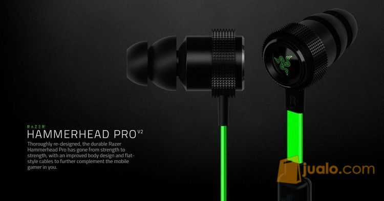 Razer Hammerhead Pro V2 (In Ear Headset) - FREE Pouch (7889415) di Kota Jakarta Barat