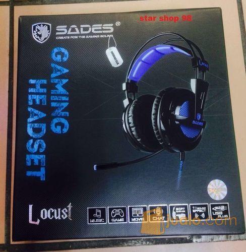 Sades Headset Locust 704 7.1ch Sound (7980137) di Kota Jakarta Barat