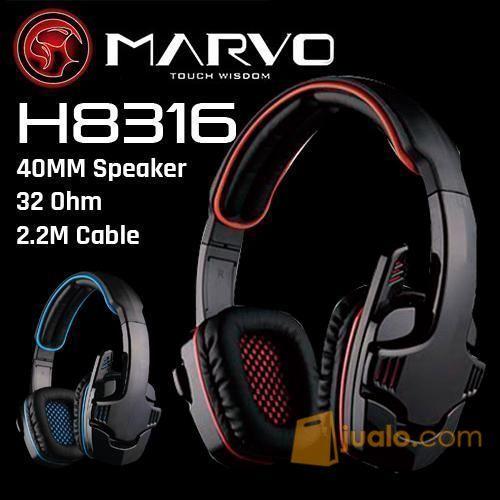 MARVO Headset H8316 Sae Scorpion (7984309) di Kota Jakarta Barat