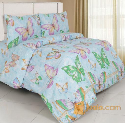 Sprei butterfly biru kebutuhan rumah tangga perlengkapan rumah 8043797