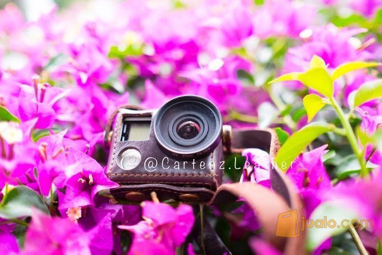 Leathercase gopro kod fotografi perlengkapan kamera pro 8130277
