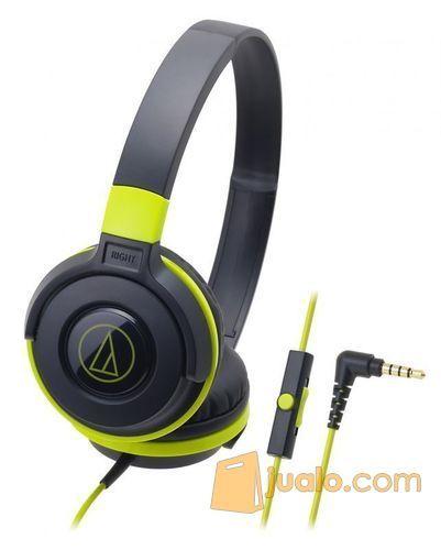 Audio Technica ATH-S100iS BK ( EX ) BLACK - GREEN (8181883) di Kota Jakarta Barat