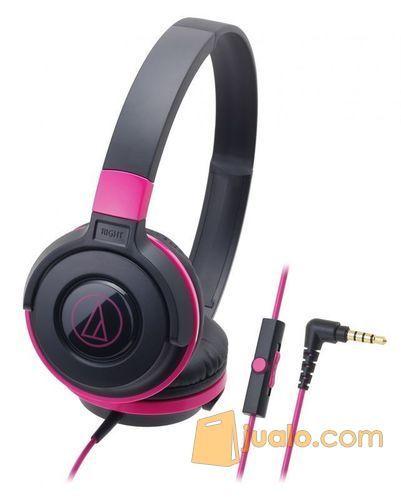 Audio Technica ATH-S100iS BPK ( EX ) BLACK / PINK (8183179) di Kota Jakarta Barat