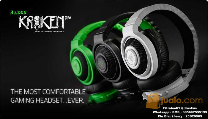 Headset Razer Kraken Pro ( Black / Green / White ) (8243983) di Kota Jakarta Barat