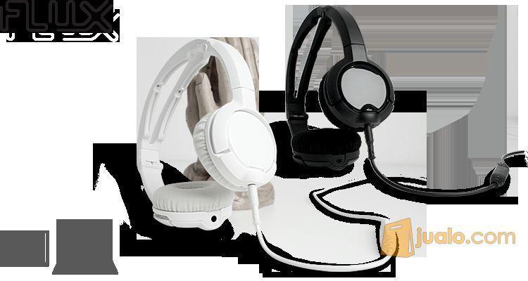 Headset SteelSeries Flux Headset Black / White (8244133) di Kota Jakarta Barat