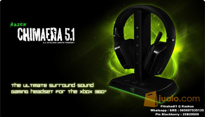 Razer Chimaera 5.1 Wireless gaming headset (8244421) di Kota Jakarta Barat