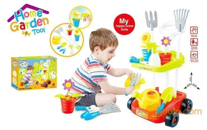 Home Garden Tool Trolley Mainan Anak Mainan Edukatif Malang Jualo