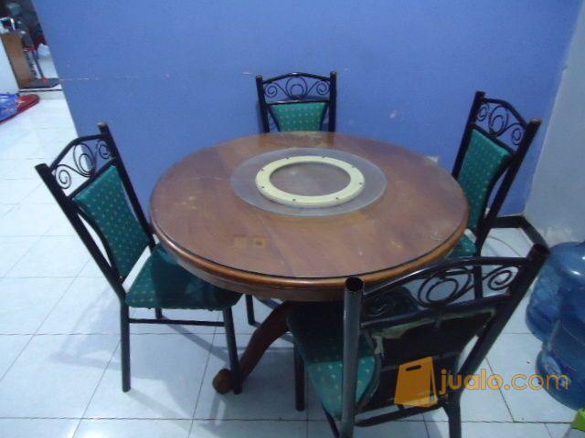meja makan bundar put kebutuhan rumah tangga perlengkapan rumah 8490969