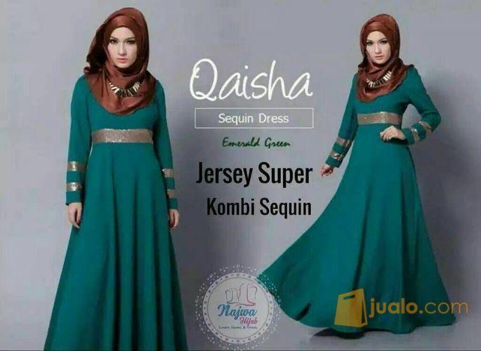 Gamis Busana Muslim Jersey Super Ori Najwa Surakarta Jualo