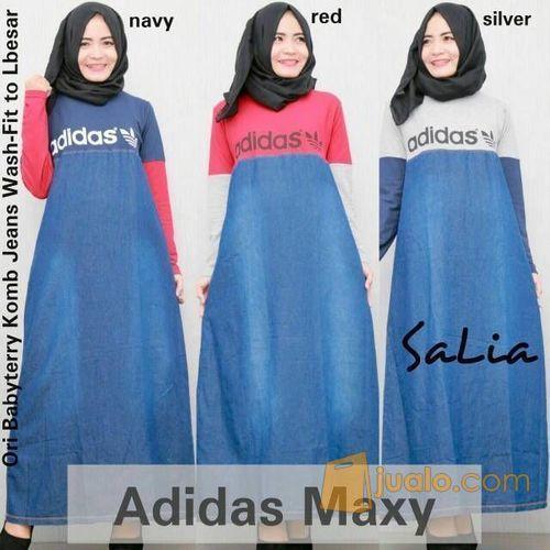 Gamis Busana Muslim Dress Babytery Kom Jeans Wash By Salia Surakarta Jualo