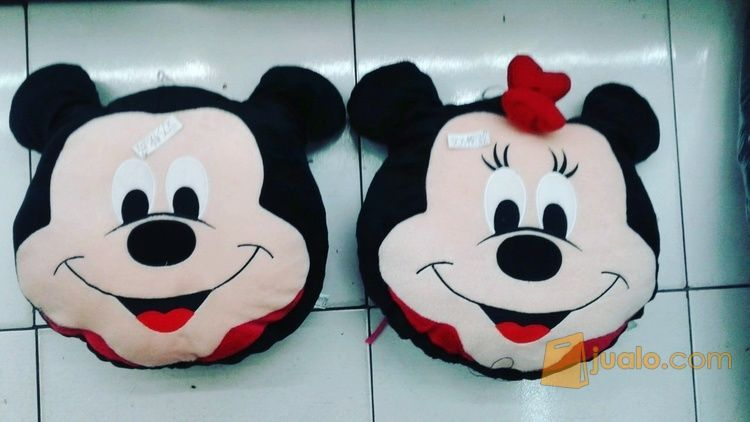 Bantal Kepala Mickey Mouse Dan Minnie Mouse Grade Super Ori Sni New Murmer Bahan Velboa Halus Isi Dracon Empuk Realpict Lucu Jakarta Selatan Jualo