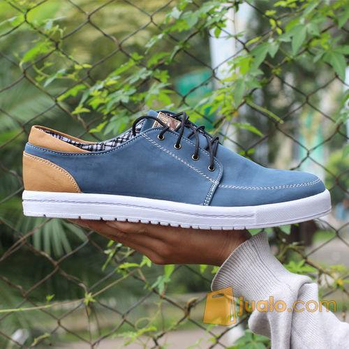 Sepatu Casual Pria cowok kerja jalan Boot formal~Jack Ankona Biru (8848335) di Kota Bandung