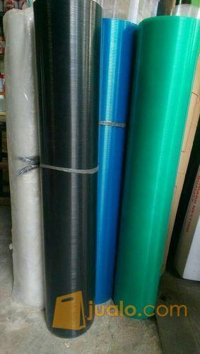 Plastik Tutup Pagar Meteran Fiber Plat Rata Motif Garis Jakarta