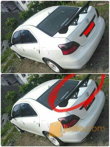 Aksesoris eksterior mobil sedan all type spoiler GT wings / sayap tingkat 2 (dua) universal sporty elegant ringan fiber berkualitas aman awet