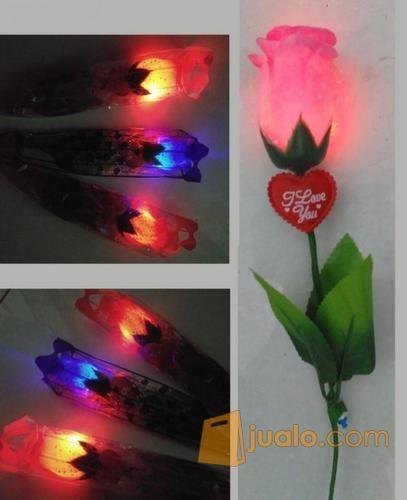 Bunga Led Lampu Mawar Nyala Kado Romantis Pasangan Pacar Surabaya Jualo