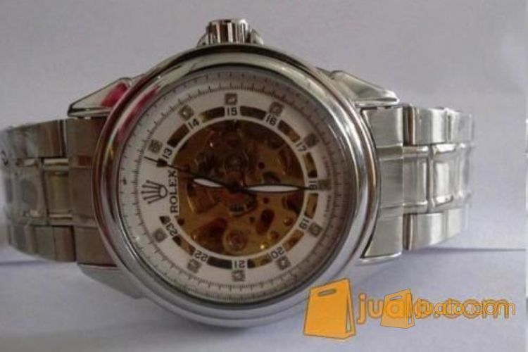 Jam tangan model Rolex otomatis putih (rantai) (915833) di Kota Jakarta Pusat