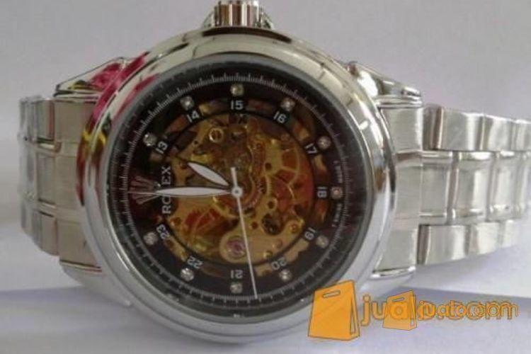Jam tangan model Rolex otomatis hitam (rantai) (915847) di Kota Jakarta Pusat