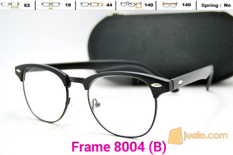 Frame Kacamata Pria Wanita Kode 8004 Lensa Baca Minus Eyewear Bandung Jualo