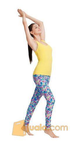 Celana Legging Yoga Denlus Biru Abstrak Dl 76064 Jakarta Barat Jualo