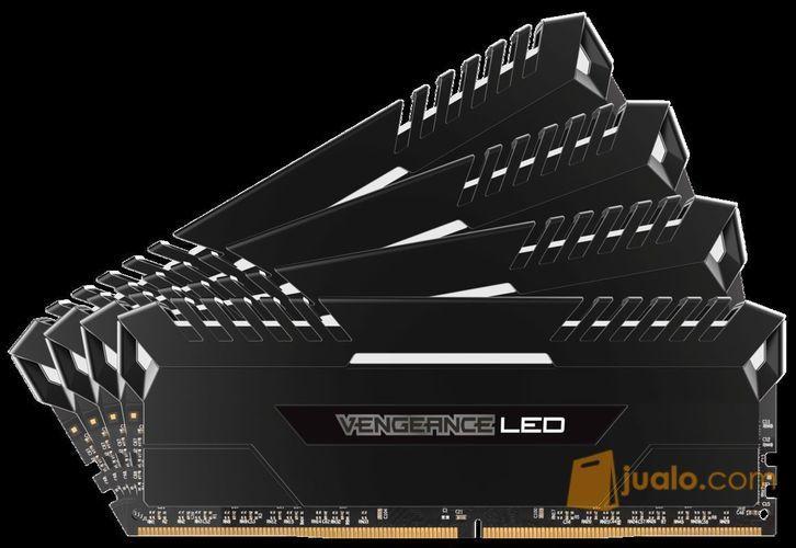 Corsair Vengeance LED WHITE DDR4-CMU32GX4M4C3200C16 (4X8GB) (9954509) di Kota Jakarta Barat