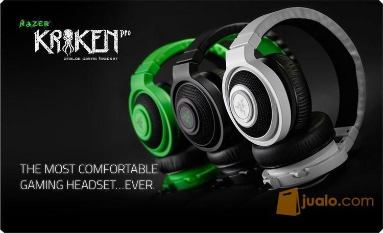 Razer Kraken Pro 2015 Analog Gaming Headset Black / Green / White (9955199) di Kota Jakarta Barat
