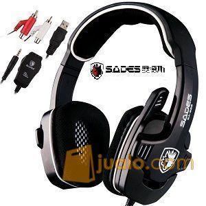 Gaming Head Set Sades SA-922 SA922 SPIDER+FREE CRADLE HS HeadSet Pro (9959781) di Kota Jakarta Barat