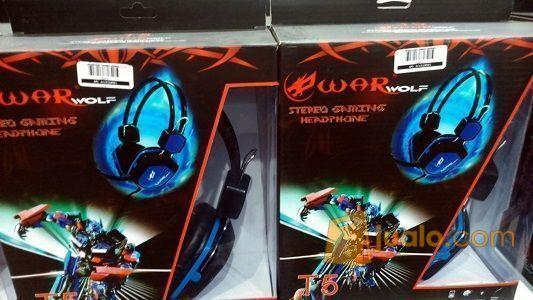 Gaming Head Set WarWolf T-5 / T5 Hs Headset Termurah Warnet OK (9960327) di Kota Jakarta Barat