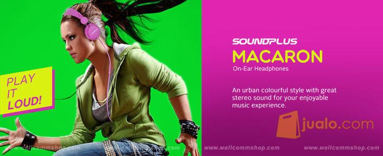 Headset SOUNDPLUS Macaron - Blue (9961255) di Kota Jakarta Barat
