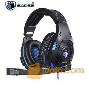 Gaming Head Set Sades SA-907S KNIGHT Plus HS Headset Terbaik Pro Game (9961811) di Kota Jakarta Barat