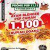 Ayam Blenger PSP PROMO 11.11 Paket PSP Hanya 1.100 Rupiah 1 HARI DOANGG! (28951785) di Kota Jakarta Selatan