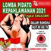 LOMBA PIDATO KEPAHLAWANAN TINGKAT SMA Dan SMK TAHUN 2021 (30409953) di Kota Jakarta Selatan