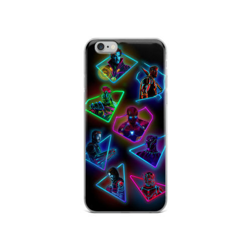 avengers superheros neon mobile cover