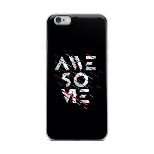 awesome text black mobile cover