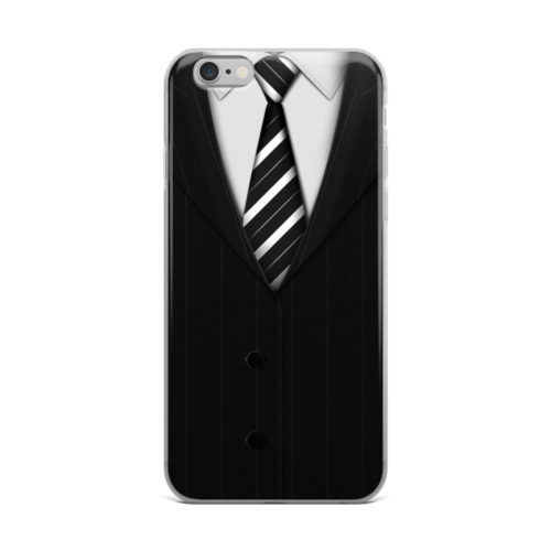 black coat mobile cover