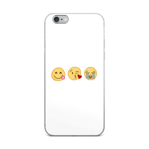 cute emoji minimal mobile cover