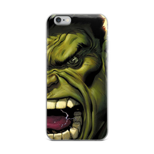 angry hulk illustration mobile cover