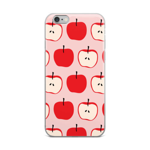 apple pattern mobile cover