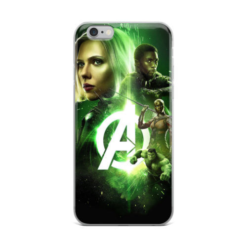 avengers green neon mobile cover