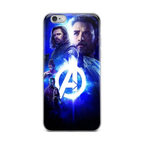 avengers neon effect mobile cover