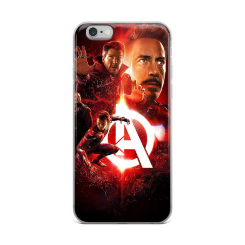 avengers red neon mobile cover