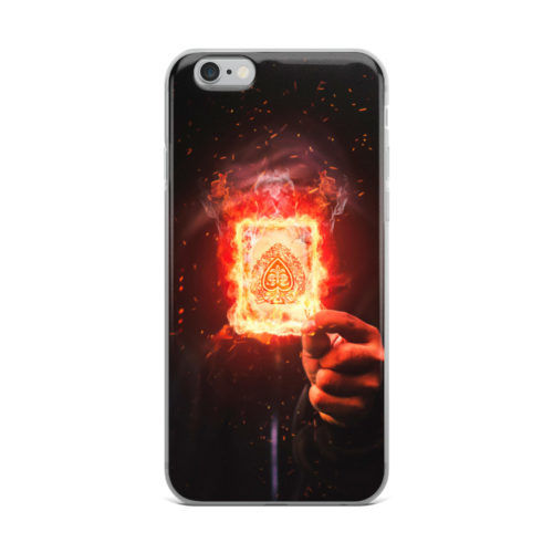 burning card mobile cover