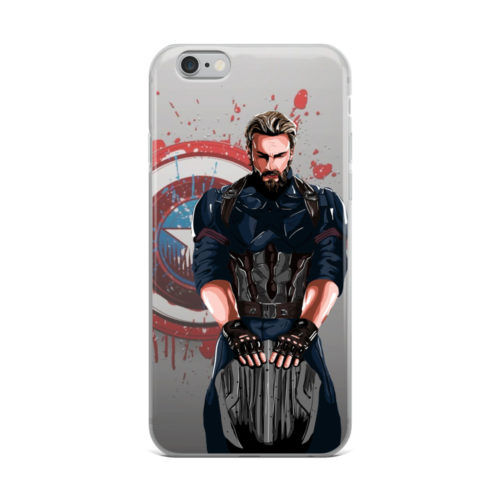 captain america oil paint mobile cover