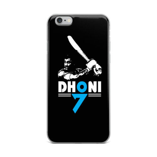 dhoni black and white mobile cover