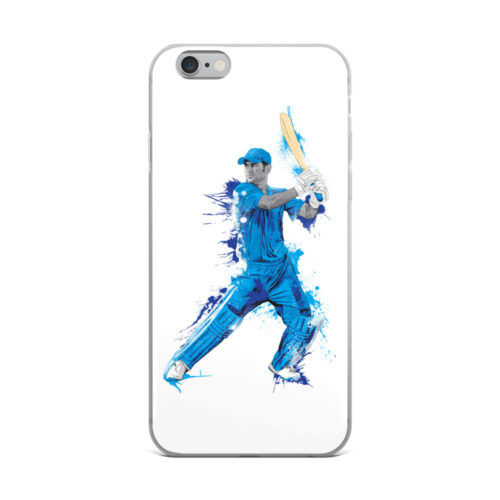 dhoni portrait artwork mobile cover