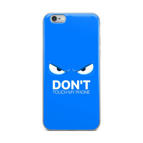 dont touch my phone blue mobile cover