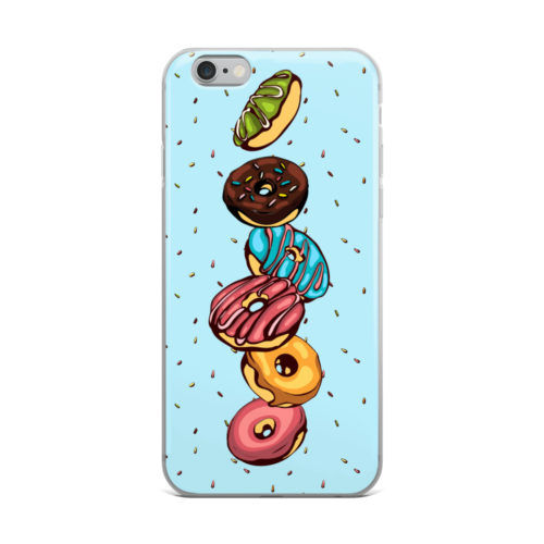 donuts minimal pattern mobile cover