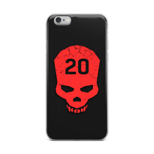 dying skull minimal mobile cover