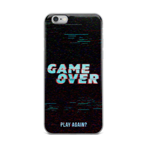 game over glitch effect mobile cover